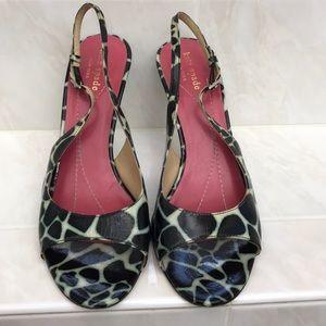 Late Spade sling crack sandals